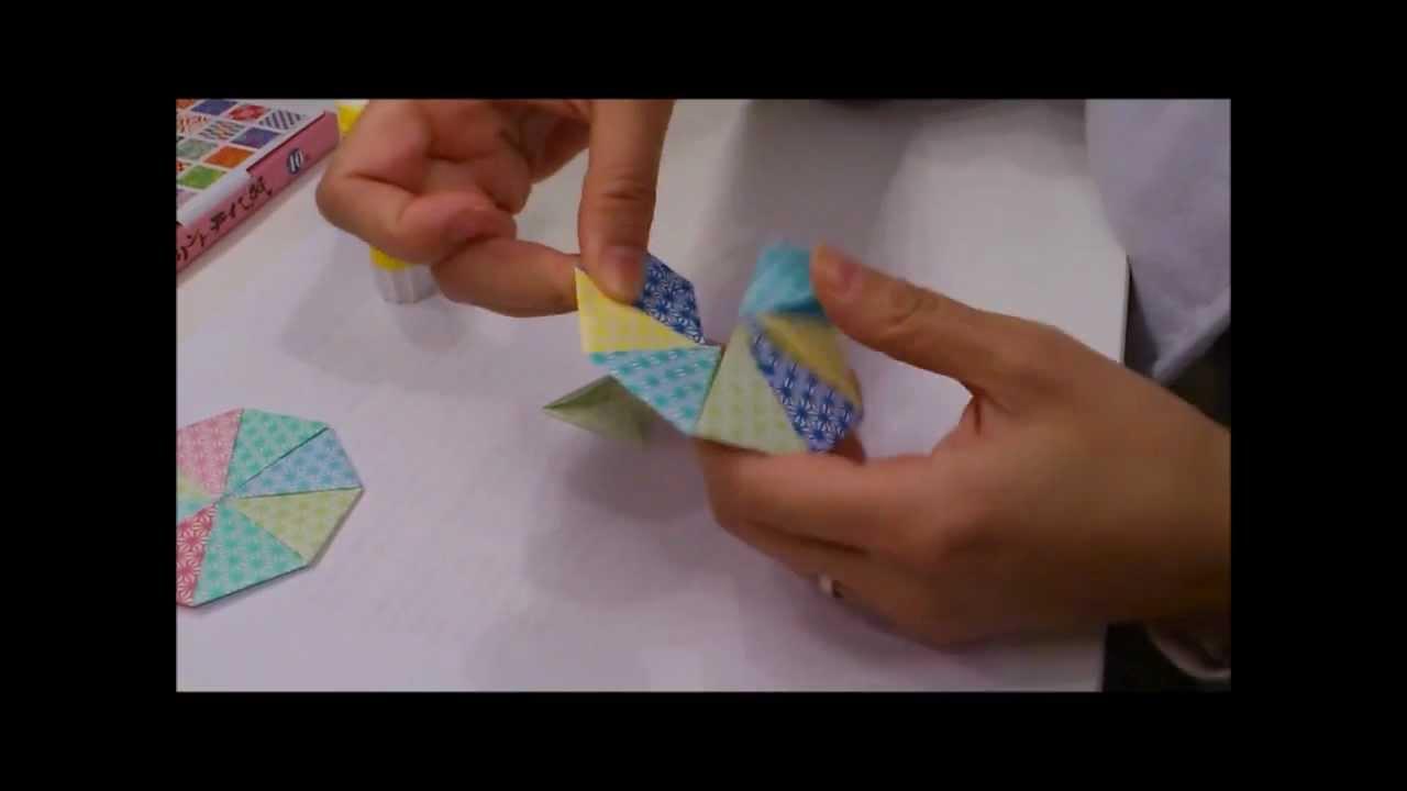 すべての折り紙 折り紙で作るコースター : 八角形コースターの折り方 ...