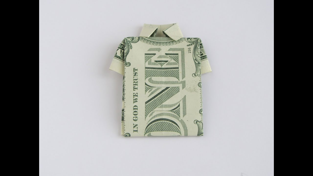 money origami shirt youtube