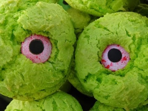 Monster Eye Cookies for Halloween