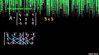 Iskanje determinante za matriko 3×3 – metoda 1