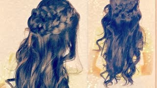 ★CUTE CURLY HAIRSTYLES BRAIDED HALF- UP UPDOS FOR