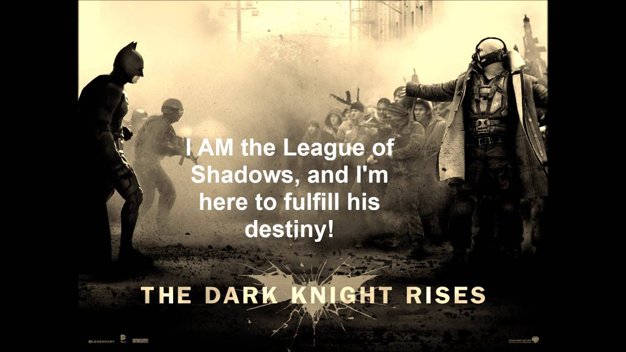 The Dark Knight Rises ...