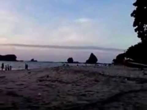 Beautiful Sunrise at Pasir Putih Malika Beach Jember