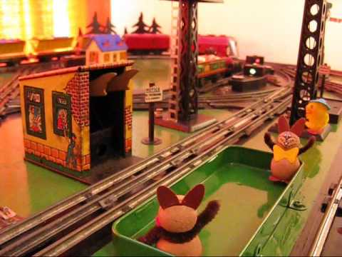 Marx Trains - Coal Dump Station - The Easter Bunny's Surprise