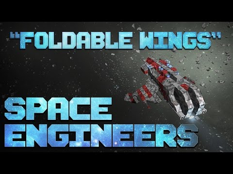 """Foldable Winged Fighter"" :: Space Engineers"