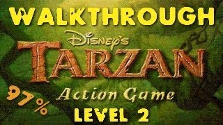 Tarzan Action Game Walkthrough Part 2 Level 2 [1/1]