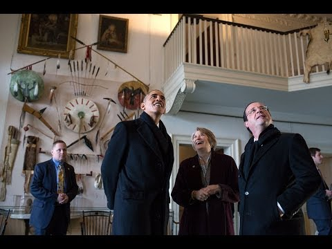 President Obama and President Hollande Visit Monticello