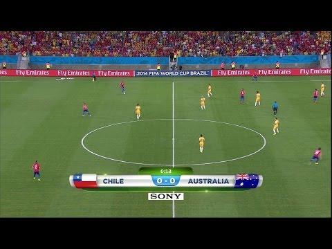 CHILE 3 Australia 1 MUNDIAL 2014
