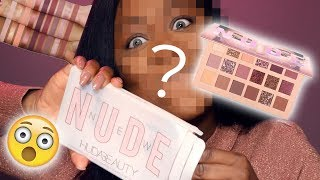 LA NEW NUDE PALETTE DI HUDA BEAUTY È DARK SKIN APPROVED ? 😈| REVIEW + MAKEUP TUTORIAL + SWATCHES !