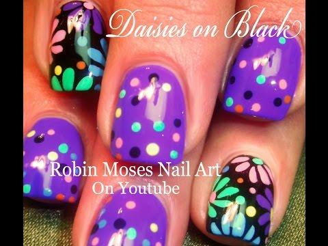 Rainbow Candy Dot Flower Nails