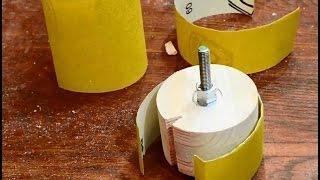 Simple sanding drum