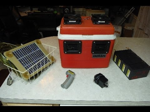 Personal Air Conditioner - Solar, 12v Battery or 110v AKA Swamp Cooler
