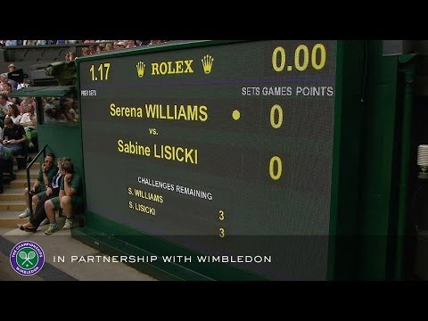 Serena Williams v Sabine Lisicki (2013 Women's 4th Round) - Rolex Wimbledon Golden Moments