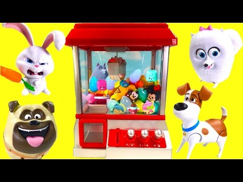 Secret Life of Pets Play CLAW MACHINE Game with Toy Surprises! Blind Bags and Fashems!