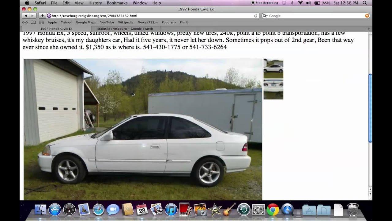 Craigslist Used Cars Roseburg Oregon