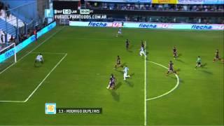 Gol de Depetris. Rafaela 1 - Lanús 0. Fecha 2. Torneo Primera División 2014. FPT