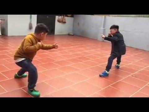 Bi Béo Và Anh Minh Lợn Tập Múa Võ ''Túy Quyền''