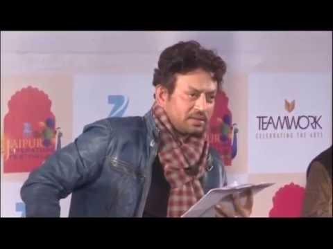Poetry by Irrfan Khan at Jaipur Literature Festival 2014