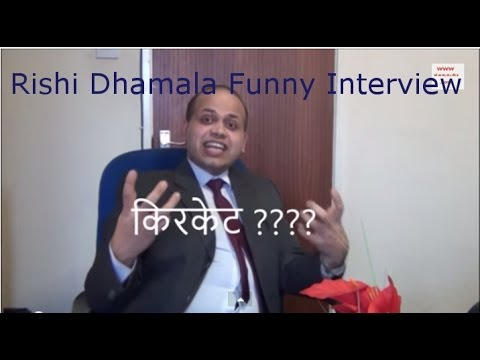 Paras Khadka Interview with Rishi Dhamala, nepali funny video !