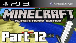 Lets Play Minecraft PS3 Edition Part 12 SKELETON IN