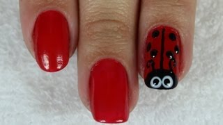 Unha Joaninha (Bichinho, Desenho, Infantil) Ladybug Nail