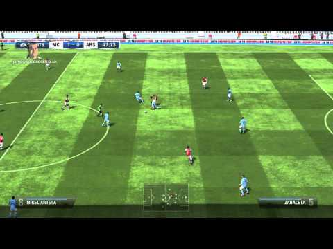 FIFA 13 Xbox 360 Gameplay -- Manchester City Vs Arsenal