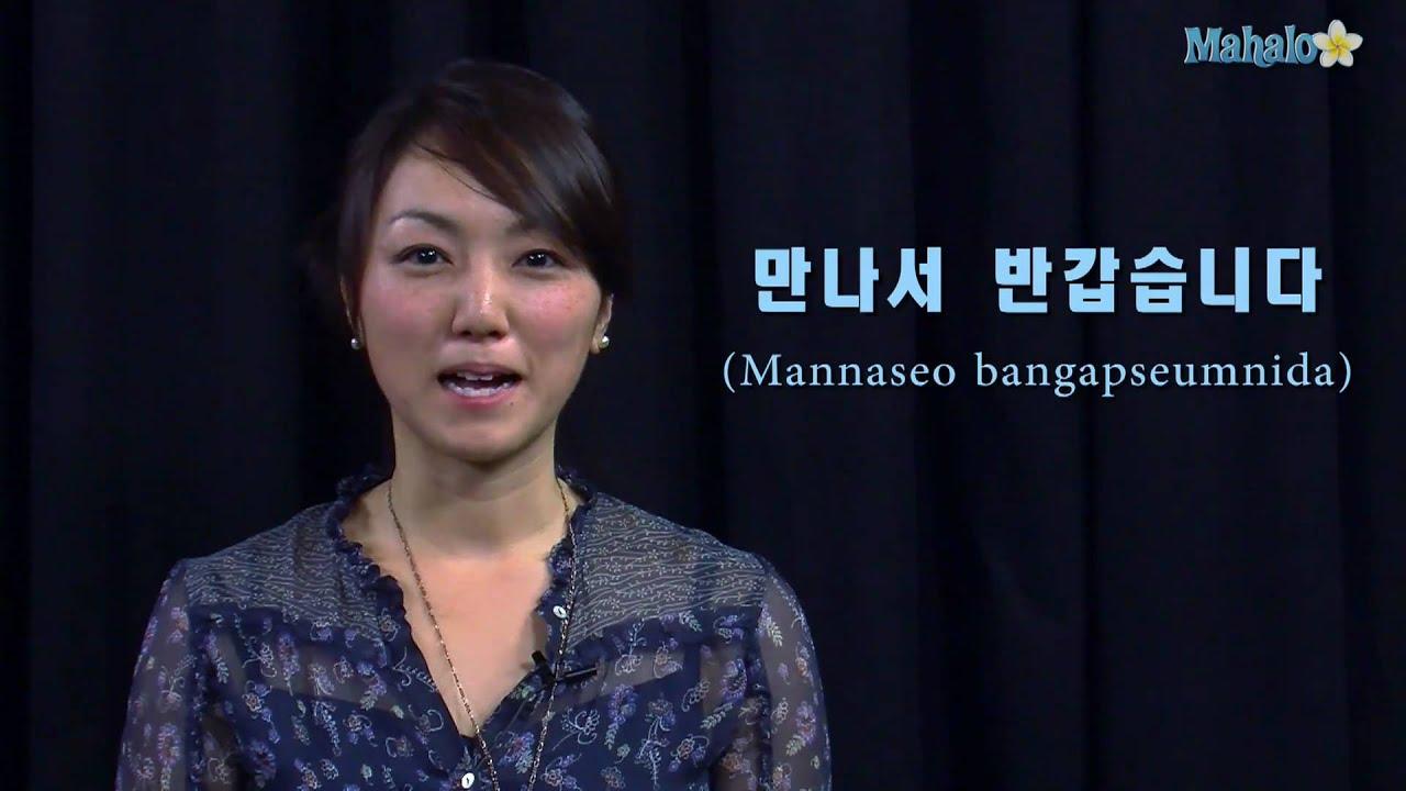 nice to meet you in korean