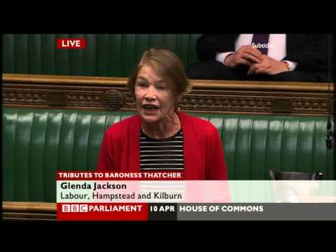 Glenda Jackson launches tirade against Thatcher in tribute debate