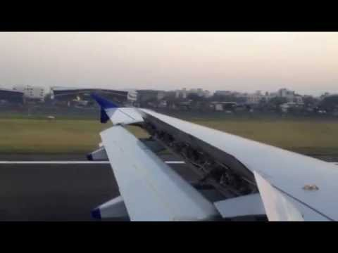 Indigo Flight landing at Mumbai Airport