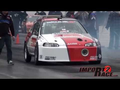 Competition Clutch Turbo Civic catches fire on the finish line