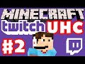 Minecraft Twitch UHC Part 2 (Ultra Hardcore Minecraft Live on Twitch with Facecam)