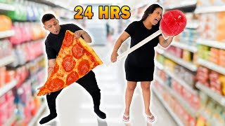 EATING ONLY GIANT FOODS FOR 24 HOURS!