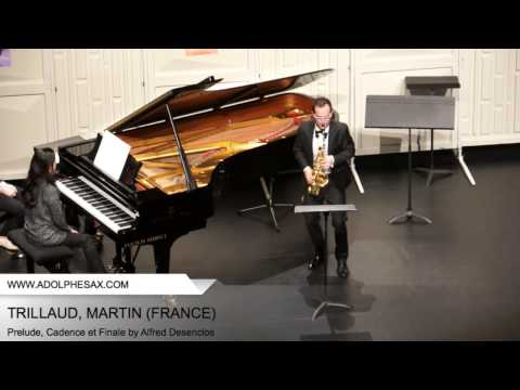 Dinant 2014 - TRILLAUD, MARTIN - Prelude Cadence et Finale by Alfred Desenclos