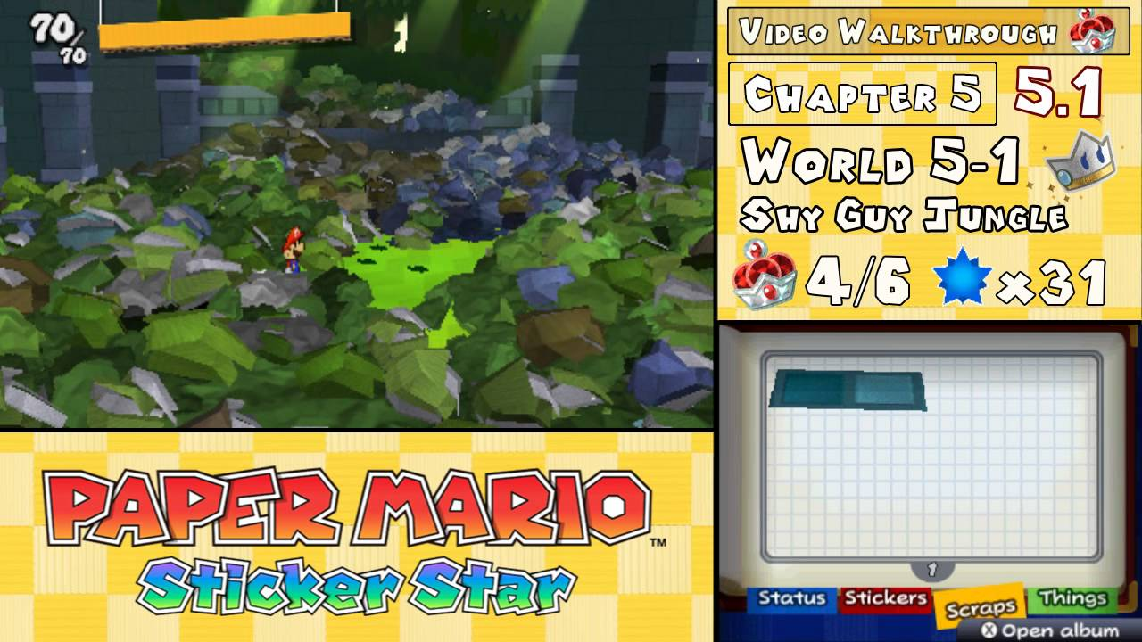 paper mario sticker star 5 1 help Read common sense media's paper mario: sticker star review, age rating,   based on 1 review  your purchase helps us remain independent and ad-free.