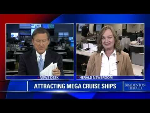 Mega Cruise Ships and the Sunshine Skyway Bridge