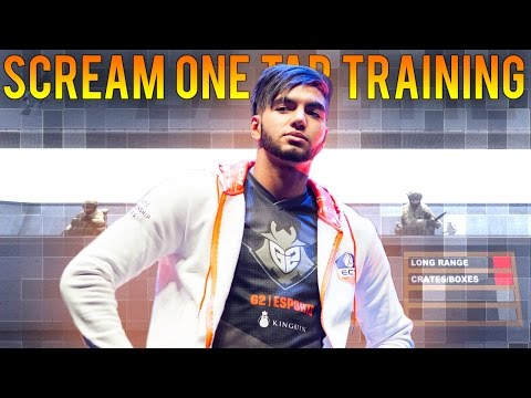 CS:GO | SCREAM AIM WORKOUT ON AIM_BOTZ + CFG 2017