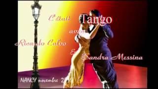 Tango avec Sandra Messina et Ricardo Calvo, novembre 2016