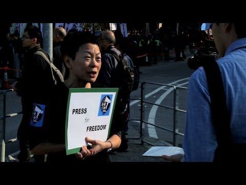 Journalists March for Media Freedom in Hong Kong
