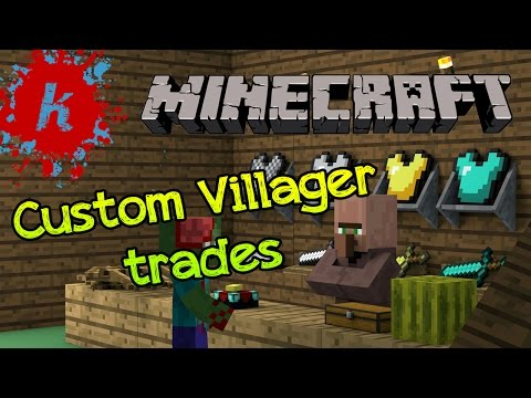 Minecraft | Tutorial - Summon a Villager with Custom Trading Options | [1.7]