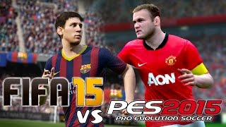 FIFA 15 Vs PES 2015 Demo Gameplay + Info PART 2