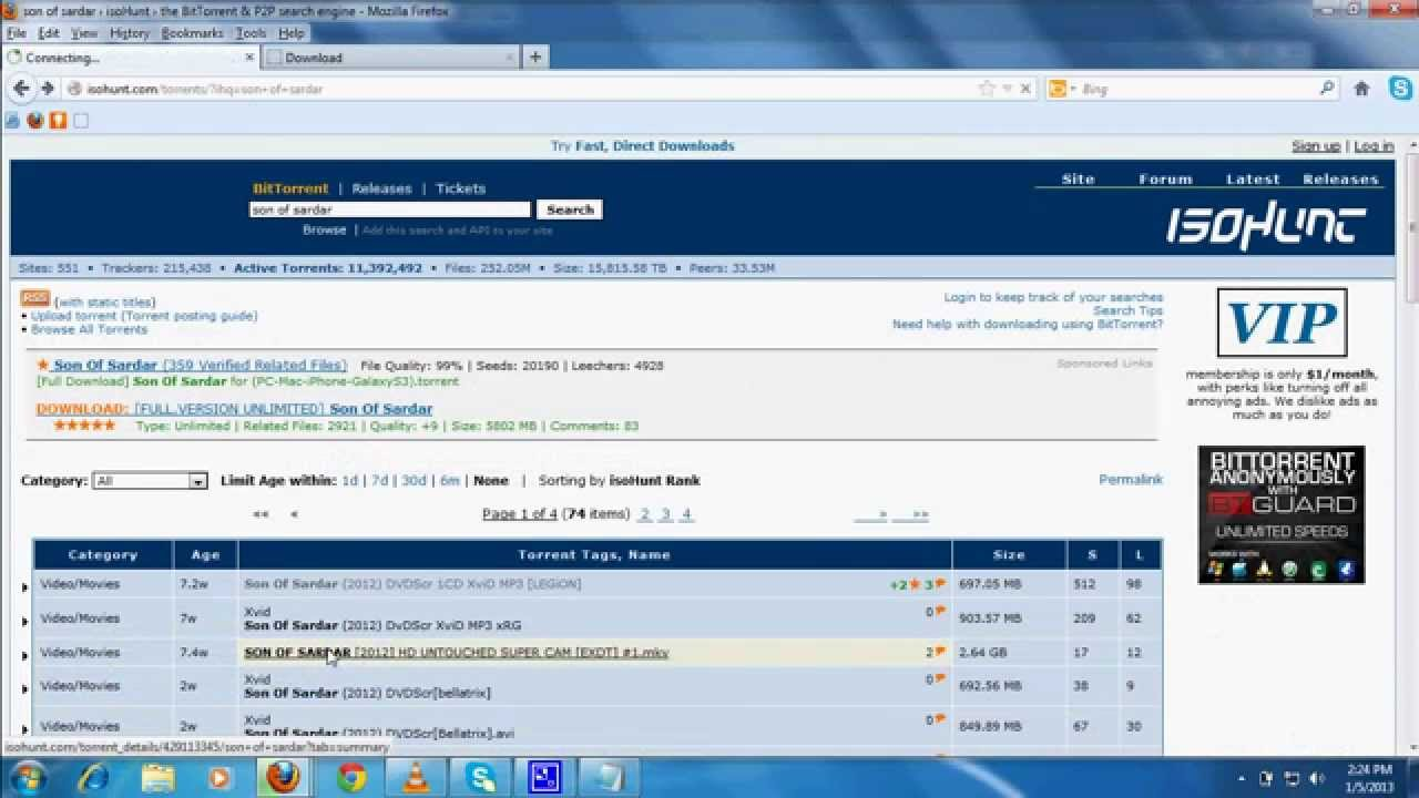 How to Download Movies free using Utorrent and isohunt ...