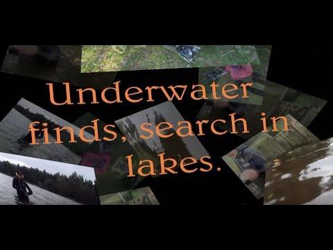 Находки на озёрах, поиск в прибрежной полосе.