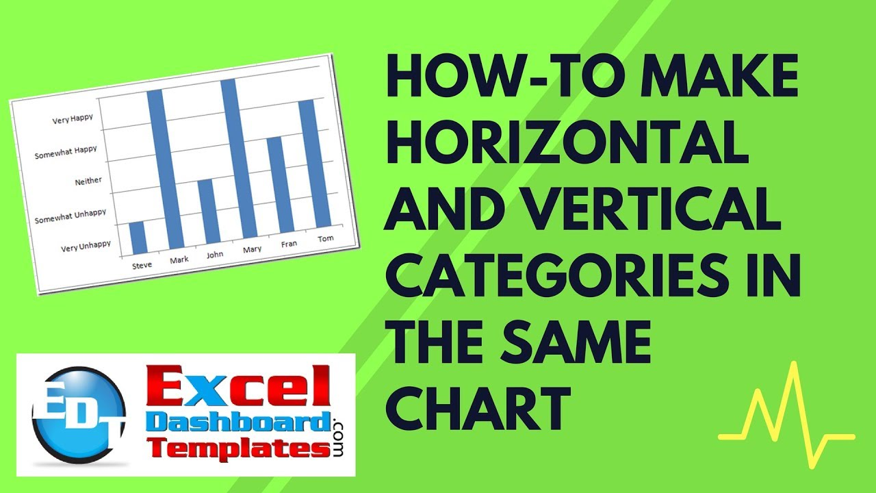 How to make horizontal and vertical categories in the same excel chart