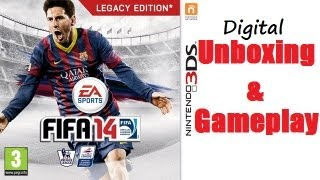 Fifa 14 Nintendo 3DS Digital Unboxing & Gameplay Aston