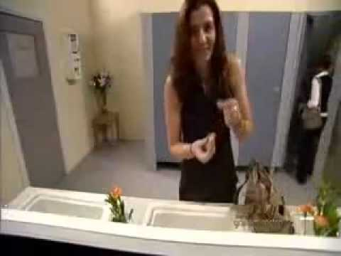 Hidden camera in girls toilet funny video youtube for Hidden bathroom pics