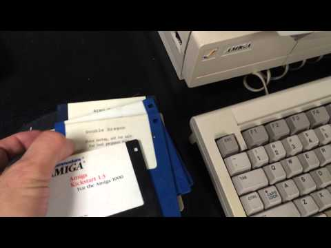 Amiga 1000 running State of Art Demo