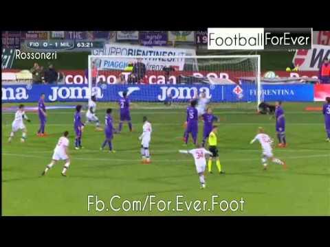 Balotelli Amazing Free Kick Goal Fiorentina Vs AC Milan 0-2 26.03.2014