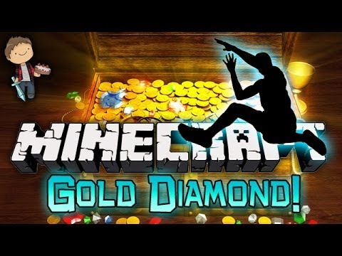 Minecraft: Gold and Diamond Parkour Race! Mini-Game w/Mitch & Friends!
