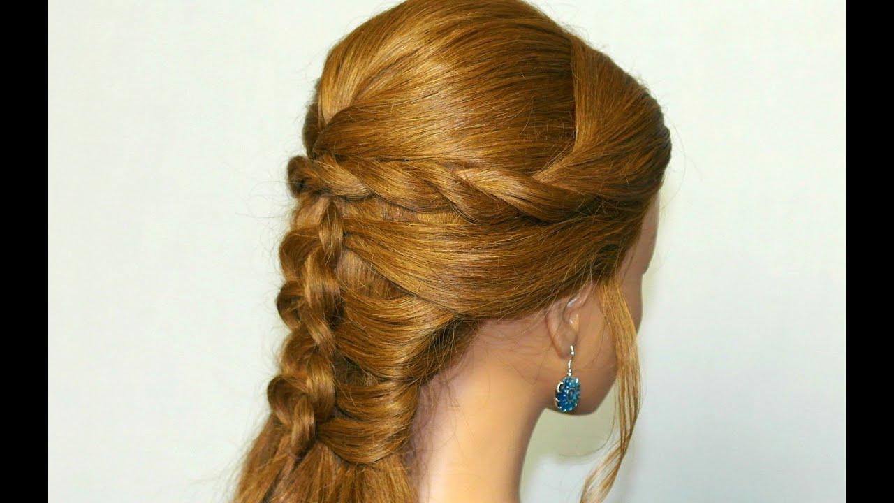 Braid Hairstyles For Long Hair Youtube : Mermaid braid hairstyle tutorial for medium long hair - YouTube