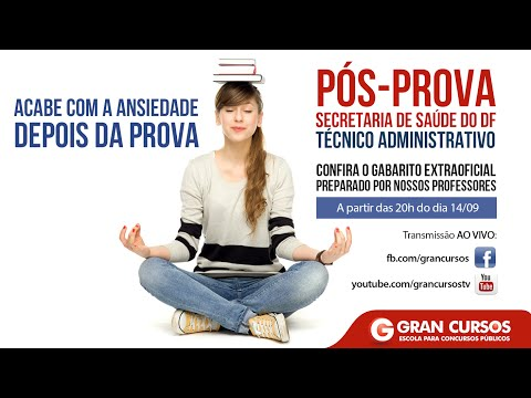 Pós-Prova SES/DF - Técnico Administrativo